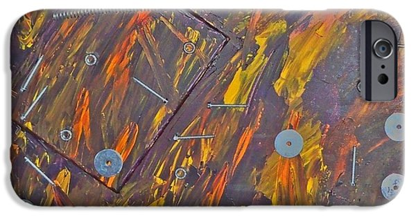 Hardware Mixed Media iPhone Cases - Metal Motion iPhone Case by Debra Organ
