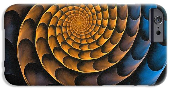 Gear iPhone Cases - Metal Spiral iPhone Case by Anastasiya Malakhova