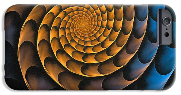 Metal iPhone Cases - Metal Spiral iPhone Case by Anastasiya Malakhova