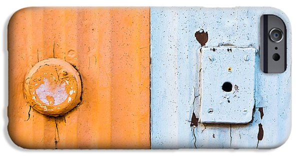 Metallic Sheets iPhone Cases - Metal texture iPhone Case by Tom Gowanlock