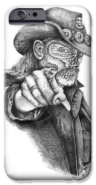 H.r. Giger iPhone Cases - Metal Zombie Heroes Lemmy Kilmister Motorhead iPhone Case by Jakub DK