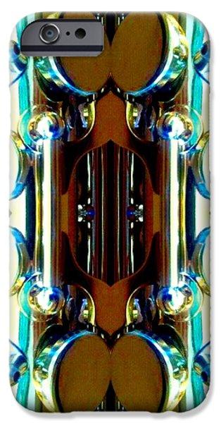 Socal Mixed Media iPhone Cases - Metallic Shinbone iPhone Case by Romy Galicia