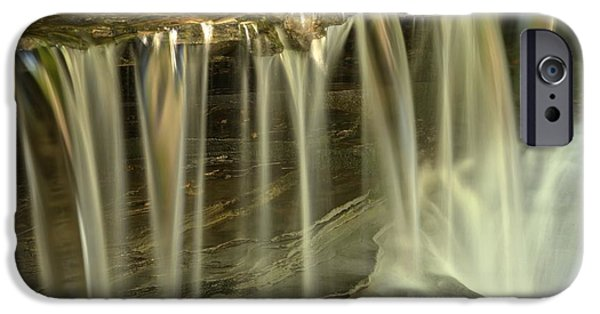 Ledge iPhone Cases - Metallic Streams At Stony Brook iPhone Case by Adam Jewell