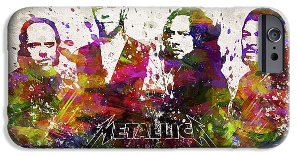 House Digital Art iPhone Cases - Metallica in Color iPhone Case by Aged Pixel