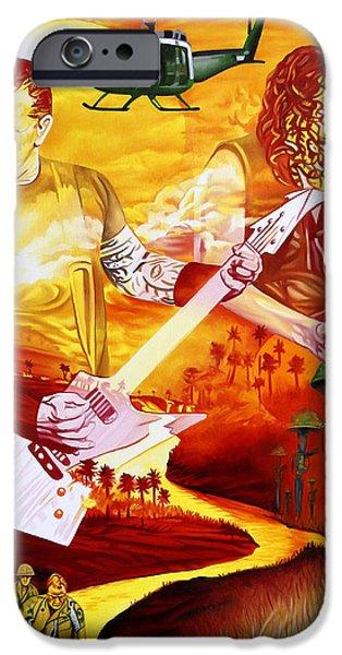 Metallica Paintings iPhone Cases - Metallica-One iPhone Case by Joshua Morton