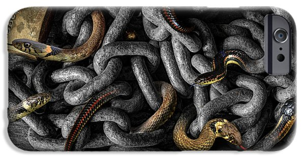 Serpent iPhone Cases - Metalmorphosisssss iPhone Case by Mal Bray
