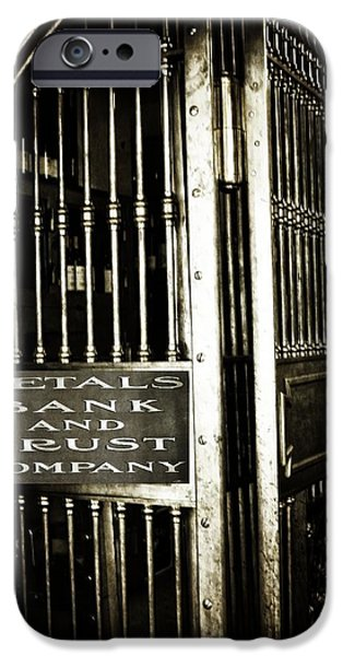 Wine Vault iPhone Cases - Metals Bank And Trust Company iPhone Case by Image Takers Photography LLC - Laura Morgan