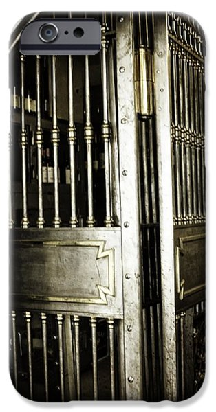 Wine Vault iPhone Cases - Metals Bank Vault iPhone Case by Image Takers Photography LLC - Laura Morgan