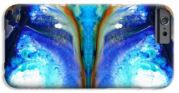 Moth iPhone Cases - Metamorphosis - Abstract Art By Sharon Cummings iPhone Case by Sharon Cummings