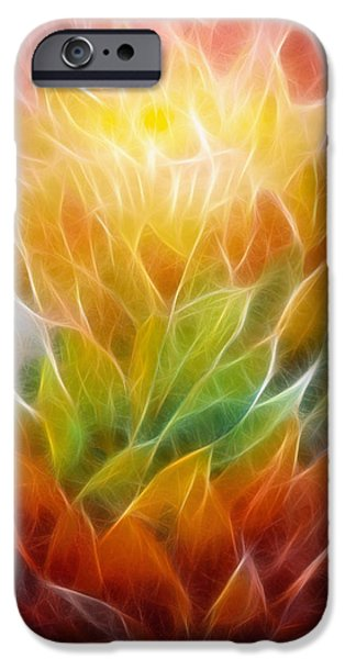 Abstract Expression iPhone Cases - Metamorphosis iPhone Case by Ann Croon