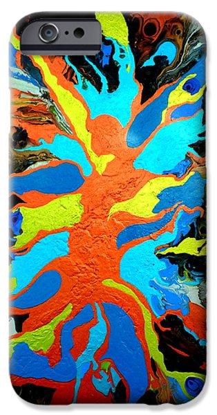 Metamorphosis Paintings iPhone Cases - Metamorphosis iPhone Case by Carla Sa Fernandes