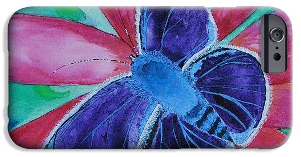 Metamorphosis Paintings iPhone Cases - Metamorphosis iPhone Case by Regina  Vasquez