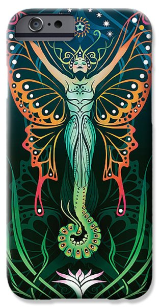 Caterpillar iPhone Cases - Metamorphosis v.2 iPhone Case by Cristina McAllister