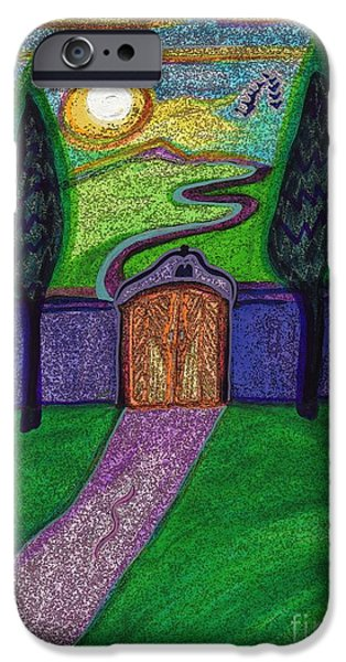 Pathway Drawings iPhone Cases - Metaphor Door by jrr iPhone Case by First Star Art