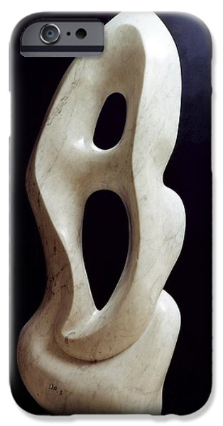 Abstract Sculptures iPhone Cases - Metaphysical shape iPhone Case by Shimon Drory