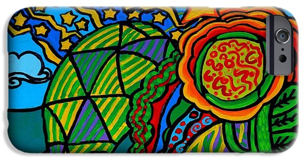 Metaphysical Paintings iPhone Cases - Metaphysical Starpalooza iPhone Case by Genevieve Esson