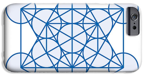 Inauguration iPhone Cases - Metatron Cube iPhone Case by Peter Hermes Furian