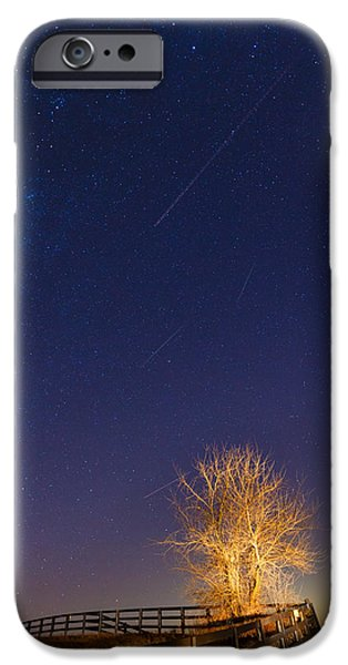Meteor shower iPhone Case by Alexey Stiop