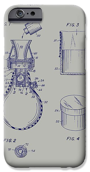 Physician Drawings iPhone Cases - Method for Testing Body Fluids Patent 1975 iPhone Case by Mountain Dreams