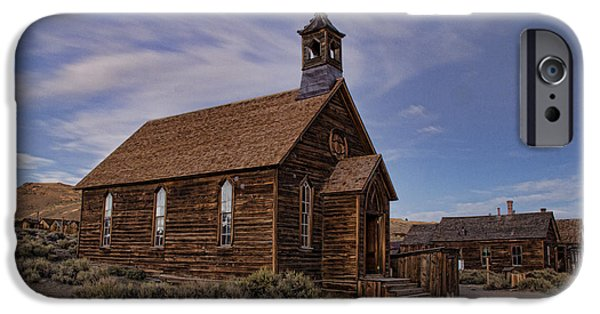 Historic Site iPhone Cases - Methodist Church Afternoon iPhone Case by Crystal Nederman