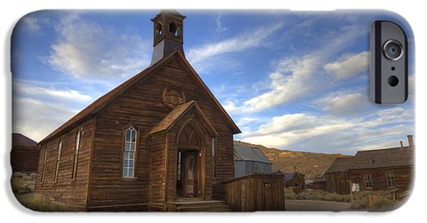 Historic Site iPhone Cases - Methodist Church in Bodie iPhone Case by Crystal Nederman