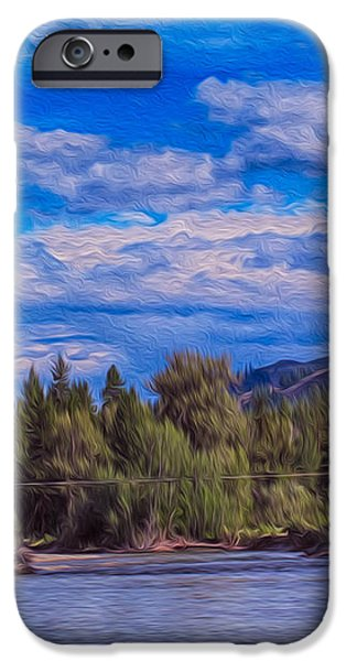 Methow River Crossing iPhone Case by Omaste Witkowski