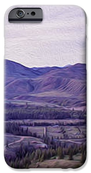 Methow River Valley via Sun Mtn Lodge iPhone Case by Omaste Witkowski
