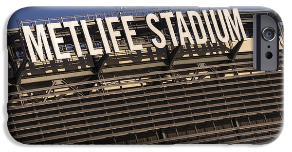 Signs iPhone Cases - Metlife Stadium iPhone Case by Susan Candelario