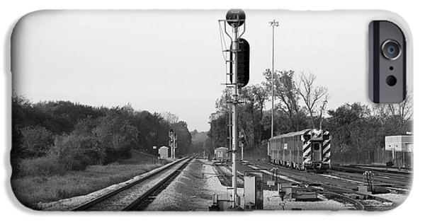 Willis Tower iPhone Cases - Metra SWS 175th St Station Area BW iPhone Case by Thomas Woolworth