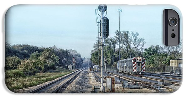 Willis Tower iPhone Cases - Metra SWS 175th St Station Area HDR iPhone Case by Thomas Woolworth