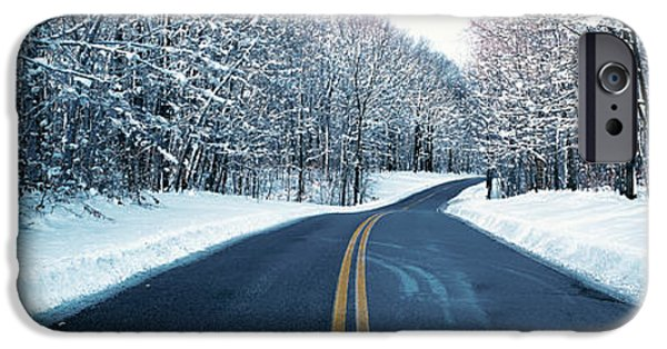 Snowy Day iPhone Cases - Metro Park Road Oh Usa iPhone Case by Panoramic Images