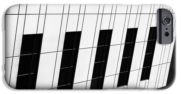 Asymmetrical iPhone Cases - Metropolis BW iPhone Case by Christi Kraft