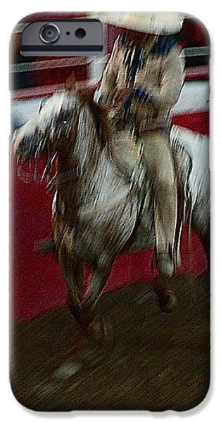 Mexican cowboy July 4th rodeo Chandler Arizona 1999 iPhone Case by David Lee Guss