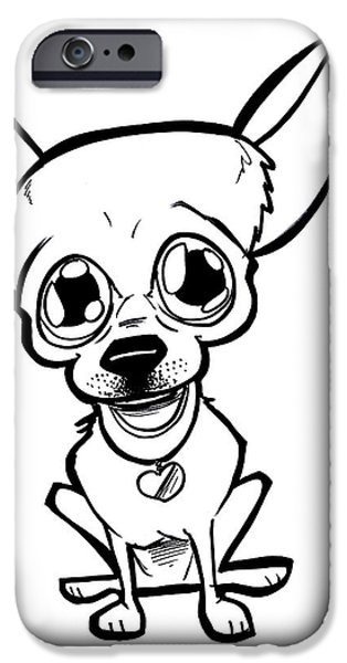 Owner Drawings iPhone Cases - Mexican Dog iPhone Case by Big Mike Roate