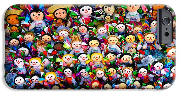 Hand-made iPhone Cases - Mexican Dolls iPhone Case by John Shaw