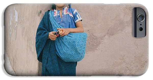 Innocence iPhone Cases - Mexican Girl iPhone Case by Shaun Higson