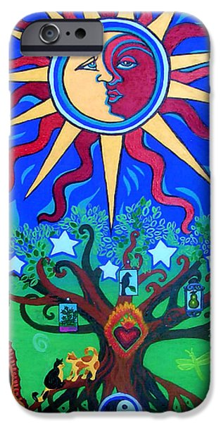 Pear Tree Paintings iPhone Cases - Mexican Retablos Prayer Board Small iPhone Case by Genevieve Esson
