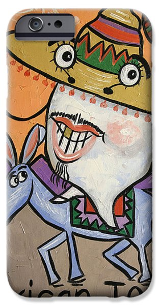 Famous Artist iPhone Cases - Mexican Tooth iPhone Case by Anthony Falbo
