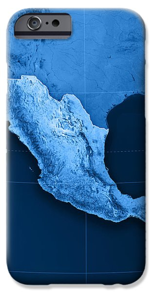 Mexico Topographic Map iPhone Case by Frank Ramspott