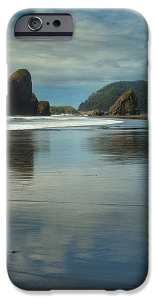 Meyers Creek Sea Stack Blues iPhone Case by Adam Jewell