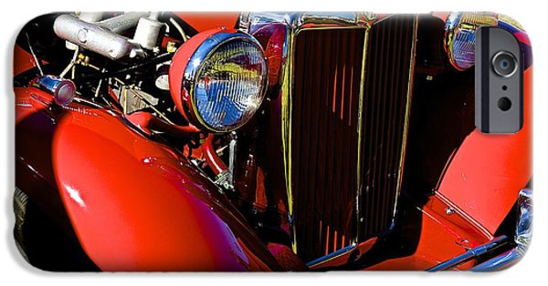 Old Cars iPhone Cases - Mg iPhone Case by Barbara Zahno