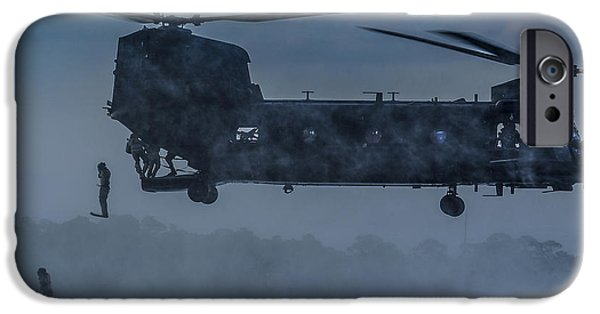 Iraq iPhone Cases - MH-47 Chinook Helicopter  iPhone Case by Celestial Images
