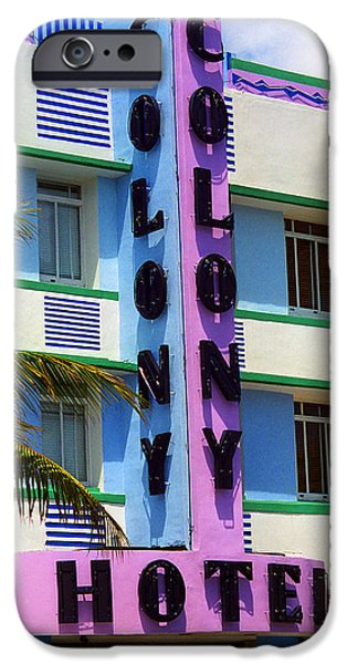 Recently Sold -  - Tree Art Print iPhone Cases - Miami Beach - Art Deco 2 iPhone Case by Frank Romeo