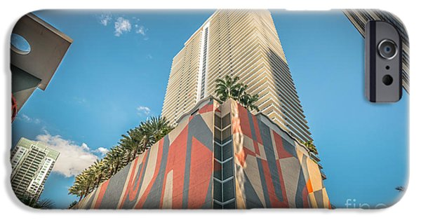 Concrete Jungle iPhone Cases - Miami Downtown Buildings - Miami - Florida iPhone Case by Ian Monk