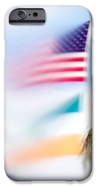 Flag iPhone Cases - Miami flag in the breeze iPhone Case by Mr Bennett Kent