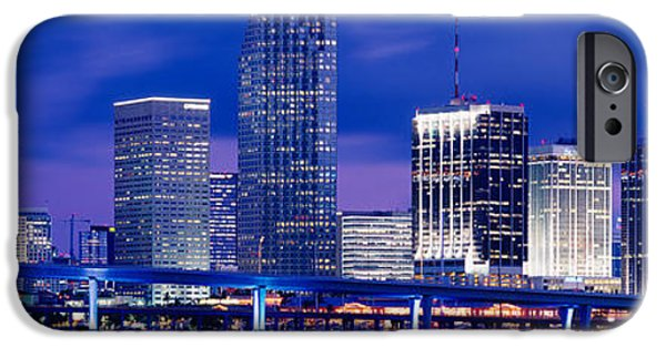 Fl iPhone Cases - Miami, Florida, Usa iPhone Case by Panoramic Images