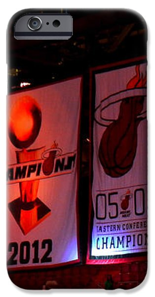 Miami Heat Banners iPhone Case by J Anthony