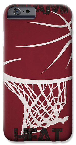 Miami Heat iPhone Cases - Miami Heat Hoop iPhone Case by Joe Hamilton