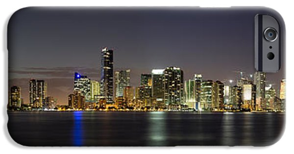 Atlantic iPhone Cases - Miami Skyline iPhone Case by Andres Leon