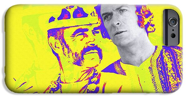 Michael Mixed Media iPhone Cases - Michael Caine and Sean Connery in The Man Who Would Be King iPhone Case by Art Cinema Gallery